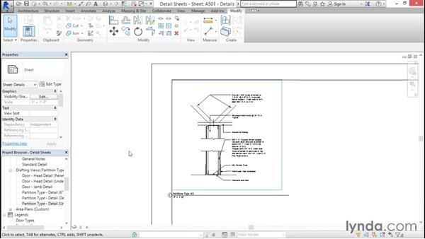 Composing detail sheets: Creating Revit Templates: Content