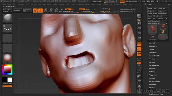 Making the mouth cavity