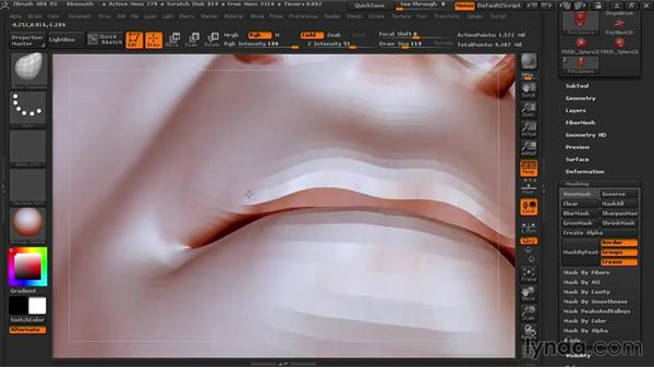 Shaping the mouth: Sculpting Portraits in ZBrush