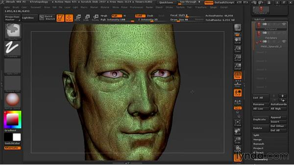 Using ZRemesher to create new topology: Sculpting Portraits in ZBrush