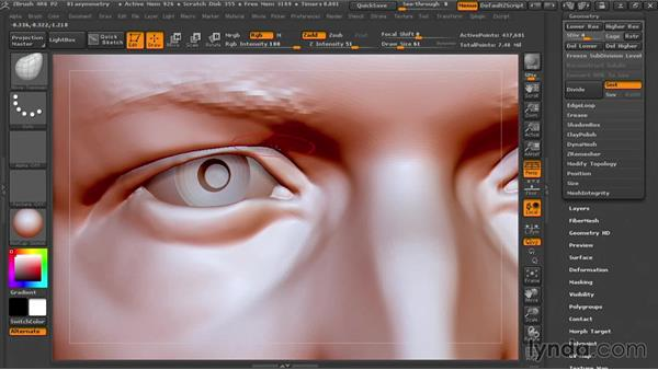 Breaking symmetry: Sculpting Portraits in ZBrush