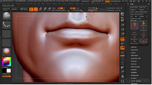 Sculpting small details: Sculpting Portraits in ZBrush