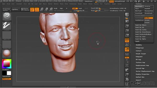 Adjusting the pose with Transpose Master: Sculpting Portraits in ZBrush