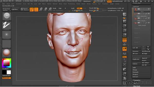 Finishing the sculpture: Sculpting Portraits in ZBrush
