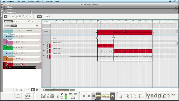 Loop recording: Up and Running with Reason 8