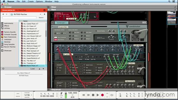 Combining software instruments: Up and Running with Reason 8
