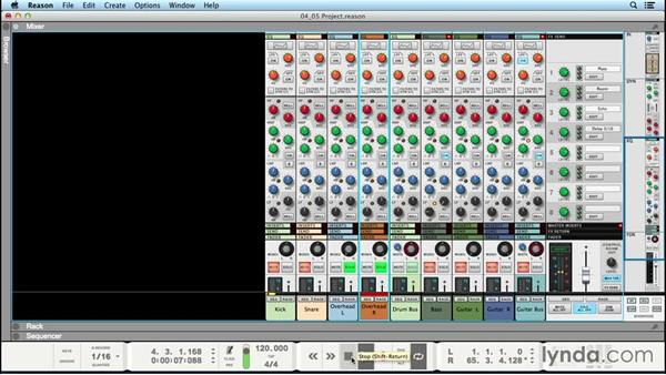Using EQ (equalization): Up and Running with Reason 8