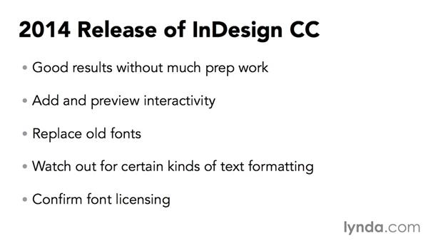 Fixed-layout EPUB workflow: InDesign CC: Interactive Document Fundamentals (2014)
