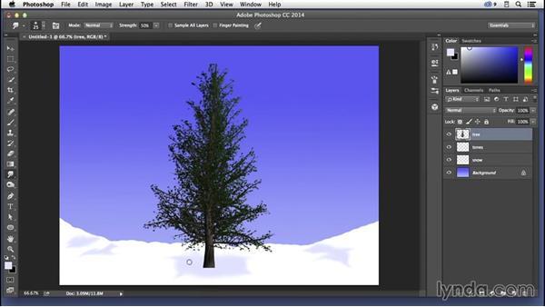 Creating a wintery scene: Pixel Playground