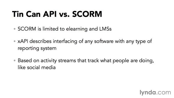 How does Experience API differ from SCORM?: Up and Running with SCORM and Tin Can API