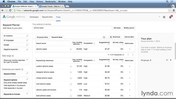 Tools to help you analyze keywords: SEO Fundamentals