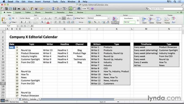 Working with an editorial calendar: SEO Fundamentals
