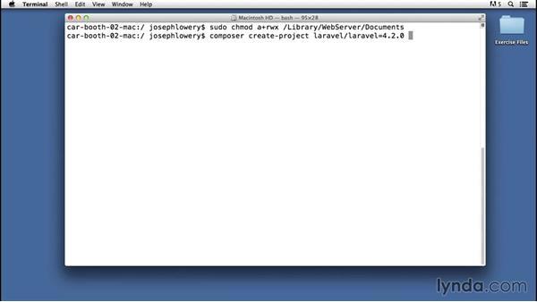 Installing Laravel: Laravel 4 Essential Training