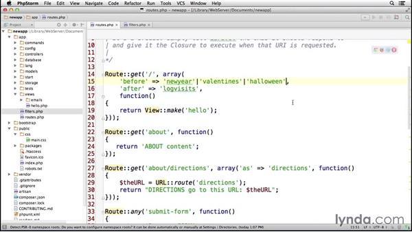 Solution: Filters: Laravel 4 Essential Training