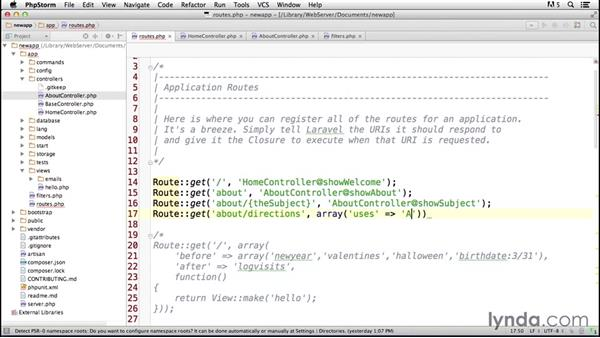 Incorporating enhanced controllers: Laravel 4 Essential Training