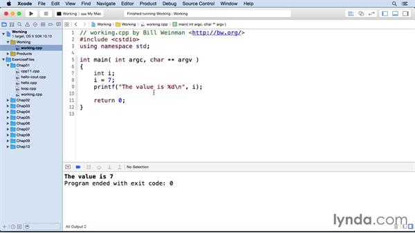 Defining variables: C++ Essential Training