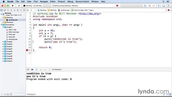 Conditionals: C++ Essential Training