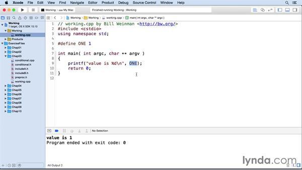 Using macros as constants: C++ Essential Training