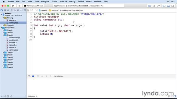Including files: C++ Essential Training