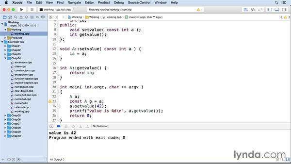 Function members: C++ Essential Training
