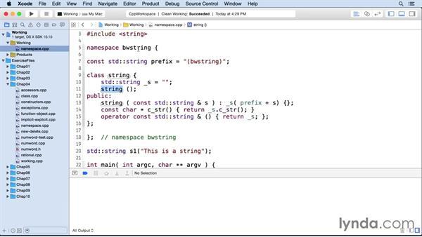 Namespaces: C++ Essential Training