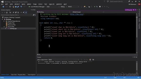 Integral types: C++ Essential Training