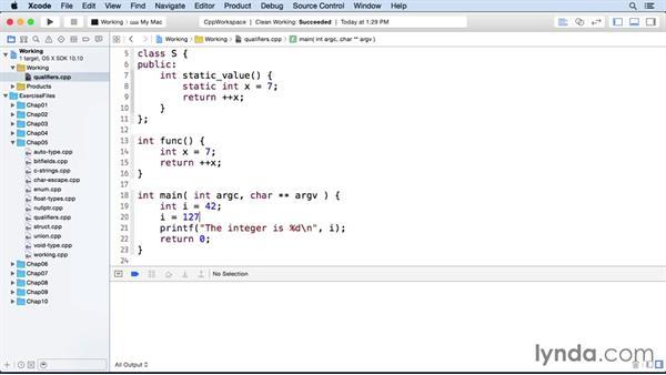Qualifiers: C++ Essential Training
