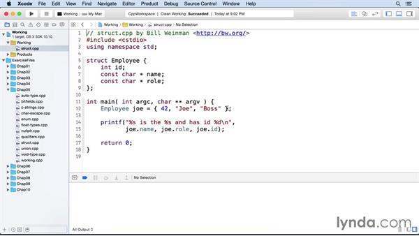 Structured data: C++ Essential Training