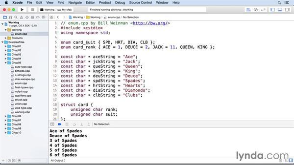 Enumerations: C++ Essential Training