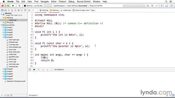 The unambiguous null pointer constant: C++ Essential Training