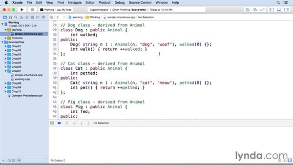 Simple inheritance: C++ Essential Training