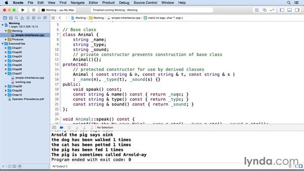 Accessing the base class: C++ Essential Training