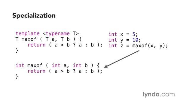 Understanding templates: C++ Essential Training