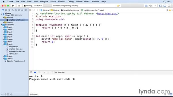 Template functions: C++ Essential Training
