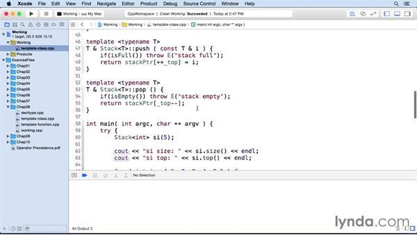 Template classes: C++ Essential Training