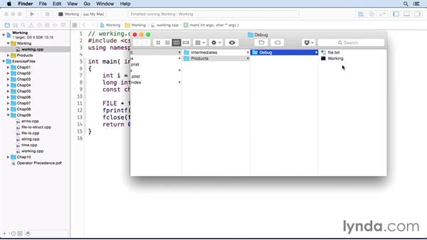 Formatted character I/O with stdio: C++ Essential Training