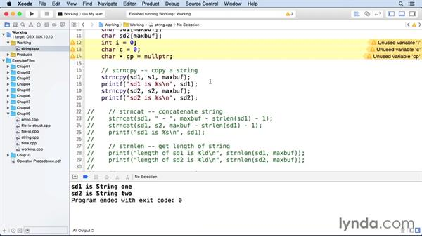 String functions: C++ Essential Training
