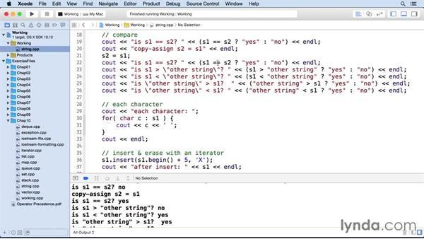 Strings: C++ Essential Training