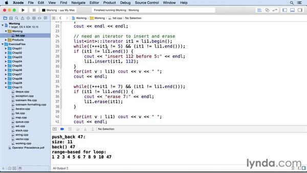 Lists: C++ Essential Training