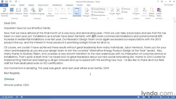 Creating personalized email messages: Word 2013: Mail Merge in Depth