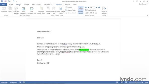 Prompting for repeating input with ASK: Word 2013: Mail Merge in Depth