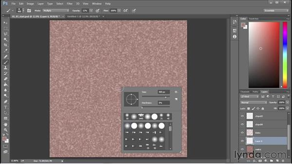 Painting figuring and strata: 3D Textures: Granite & Mosaics
