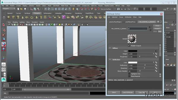 Creating a stone material and linking the textures: 3D Textures: Granite & Mosaics
