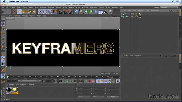 Texturing the action-movie title: Mograph Techniques: Movie Trailer Titles in CINEMA 4D and After Effects