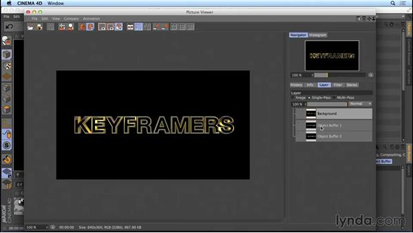 Setting up the action-movie title for rendering: Mograph Techniques: Movie Trailer Titles in CINEMA 4D and After Effects