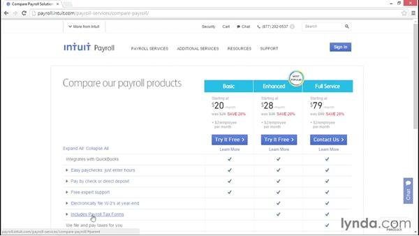 Choosing the right QuickBooks Payroll product: QuickBooks Payroll Essential Training