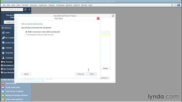 Creating compensation items: QuickBooks Payroll Essential Training