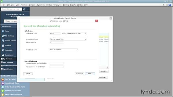 Creating employee records: QuickBooks Payroll Essential Training