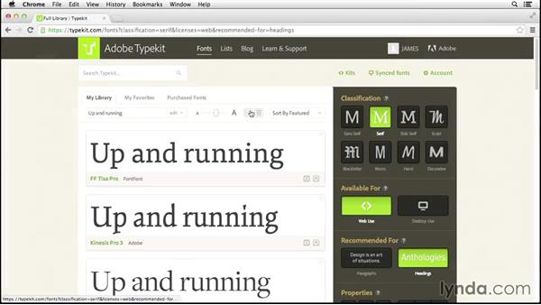 Welcome: Up and Running with Typekit