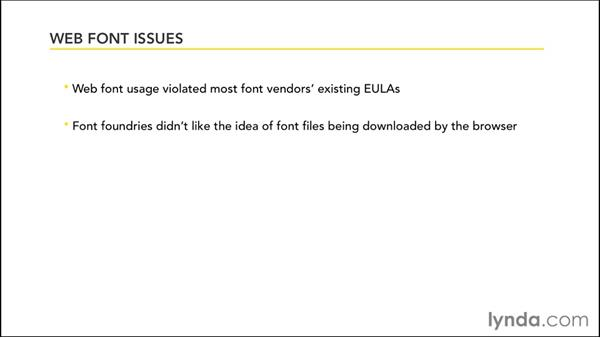What are web fonts?: Up and Running with Typekit